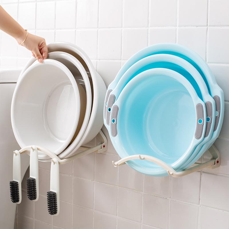 免打孔脸盆架壁挂卫生间盆架厕所盆子洗脸盆收纳架浴室脸盆置物架