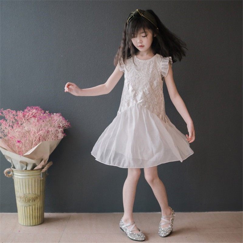 女童公主裙夏装2020新款韩版超洋气网纱连衣裙中大童蓬蓬纱裙子潮