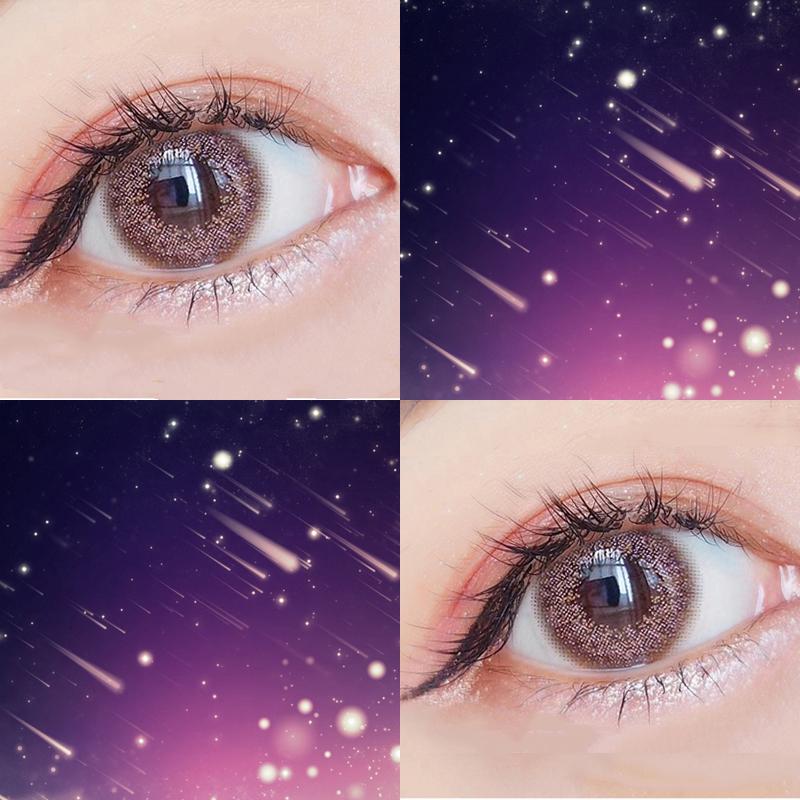 2片美瞳年抛女大小直径13.8mm自然混血欧美抖音网红款隐形眼镜ZJ