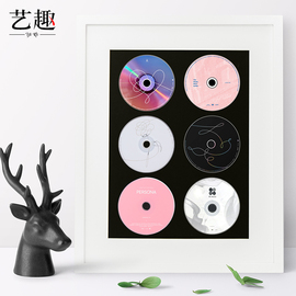 艺趣 实木CD相框摆台光盘包收纳架专辑收藏册dvd光碟盒挂墙展示框