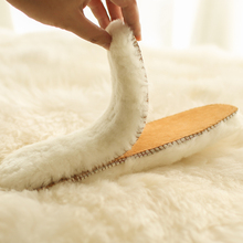 保暖羊毛绒鞋垫冬男in6皮毛竹炭ze加绒加厚毛鞋垫