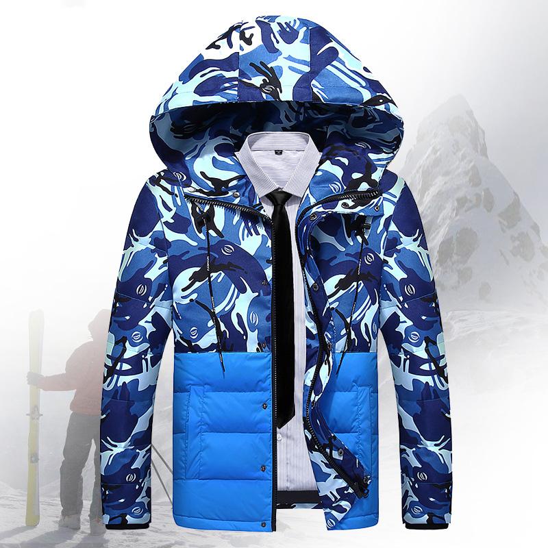 羽绒服男短款加厚修身款青年迷彩冬季潮男装学生外套青少年羽绒服