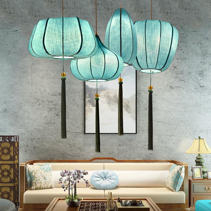 新中式小吊灯创意灯笼复古中国风禅意茶室餐厅灯古典艺术仿古灯具-升图中式灯馆