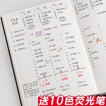 2021年计划表日程本时间轴手账本记录本考研学习日历本打卡大学生周计划本工作记事每日计划时间管理效率手册