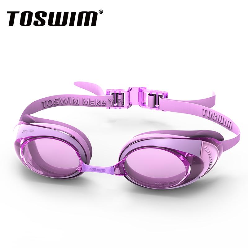 TOSWIM拓胜泳镜高清防雾防水近视男女士大框专业游泳眼镜帽送耳塞