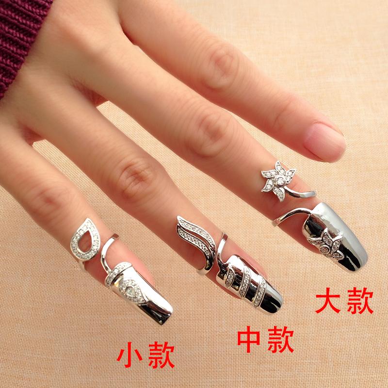 罗泰老银匠饰品 925银女款戒指日韩版银指甲套饰品时尚个性指环