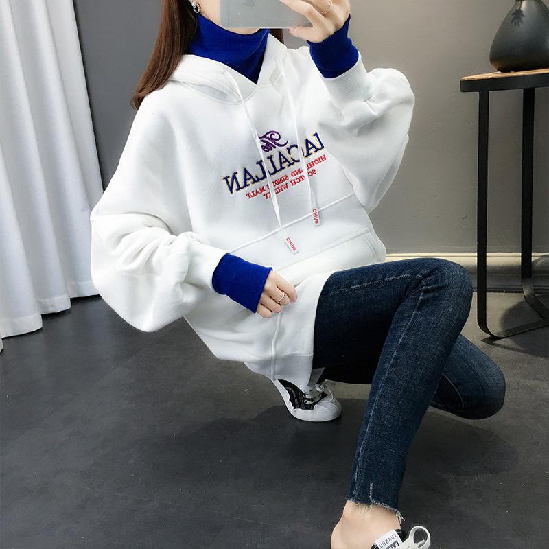 加绒加厚款卫衣女秋冬季2020年新款爆款女装秋季连帽外套宽松韩版