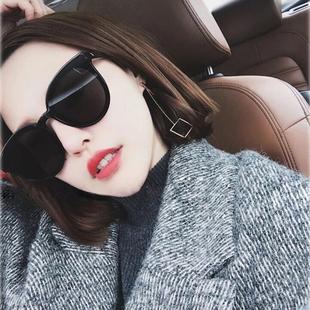 TANS三氏男女通用偏光太阳镜ins街拍韩版防紫外线驾驶GM圆框墨镜