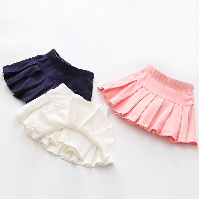宝宝百褶裙裤 2019夏装新款女童童装儿童舞蹈半身裙子kz-b217