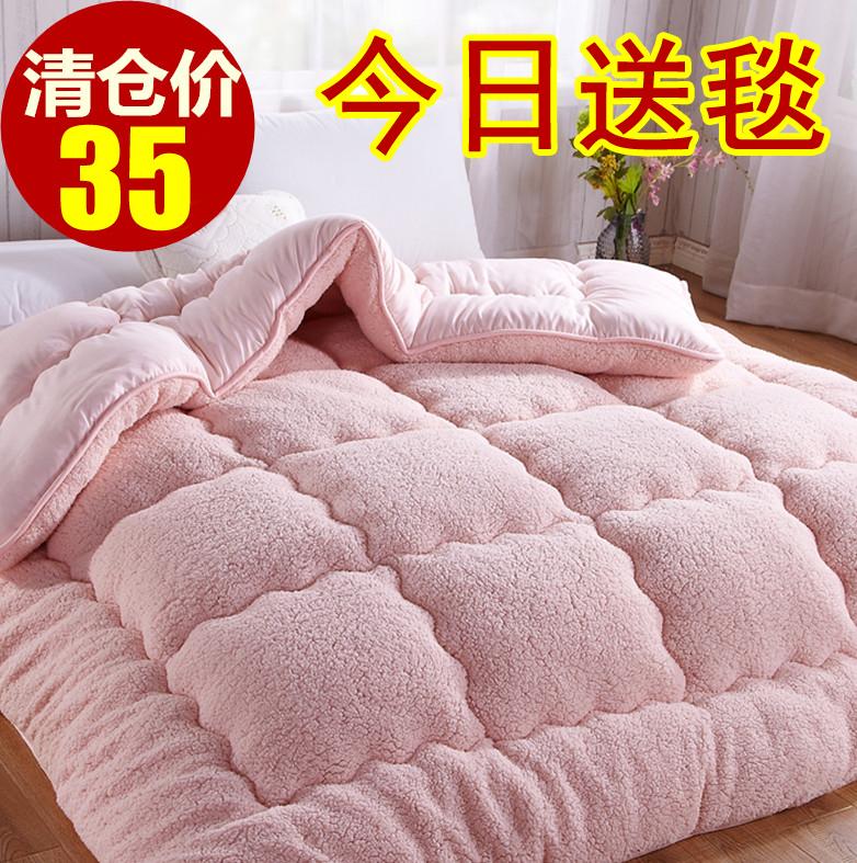 冬天加厚羊羔绒被子双人冬被棉被单人学生儿童保暖被芯太空被褥