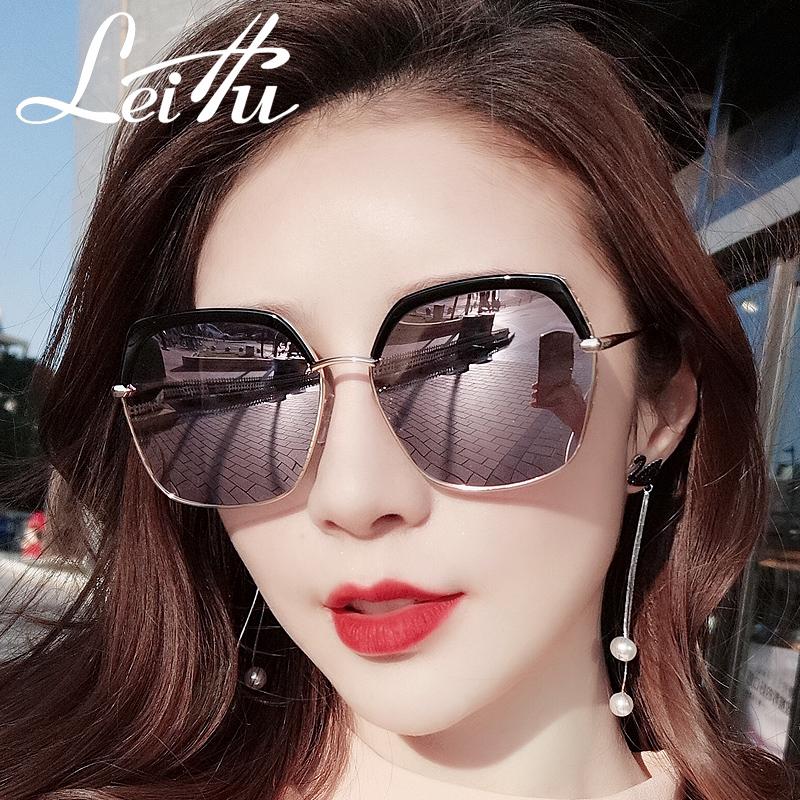 墨镜女潮网红ins韩版防紫外线圆脸大脸显瘦偏光太阳镜女 可配近视