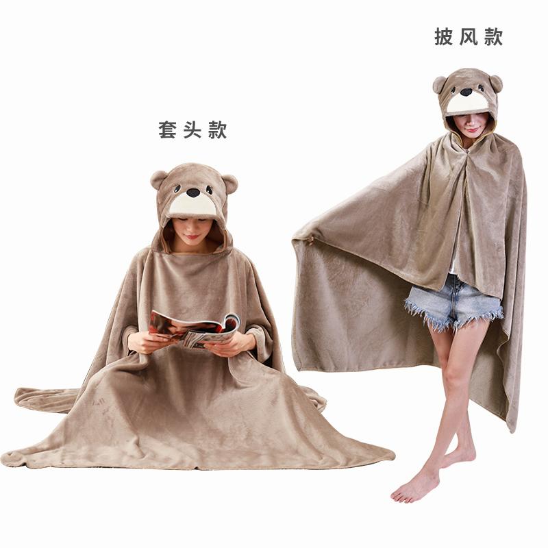 车载办公室空调毯子沙发靠垫午睡抱枕被子两用可爱女生日毕业礼物
