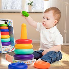 叠叠乐儿童玩具益智早教男孩彩虹塔套圈圈不倒翁婴幼1一2岁女宝宝