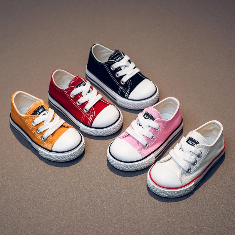 宝宝帆布鞋1-3岁春季男童女童学步鞋软底儿童帆布鞋婴童宝宝鞋子