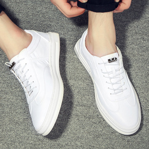 2017 summer new tide shoes Korean hole white men's casual shoes breathable leather shoes white shoes men's shoes