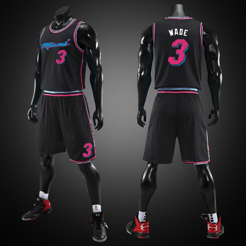 篮球服套装男学生夏季定制做韦德3号热火城市版球衣比赛队服印字
