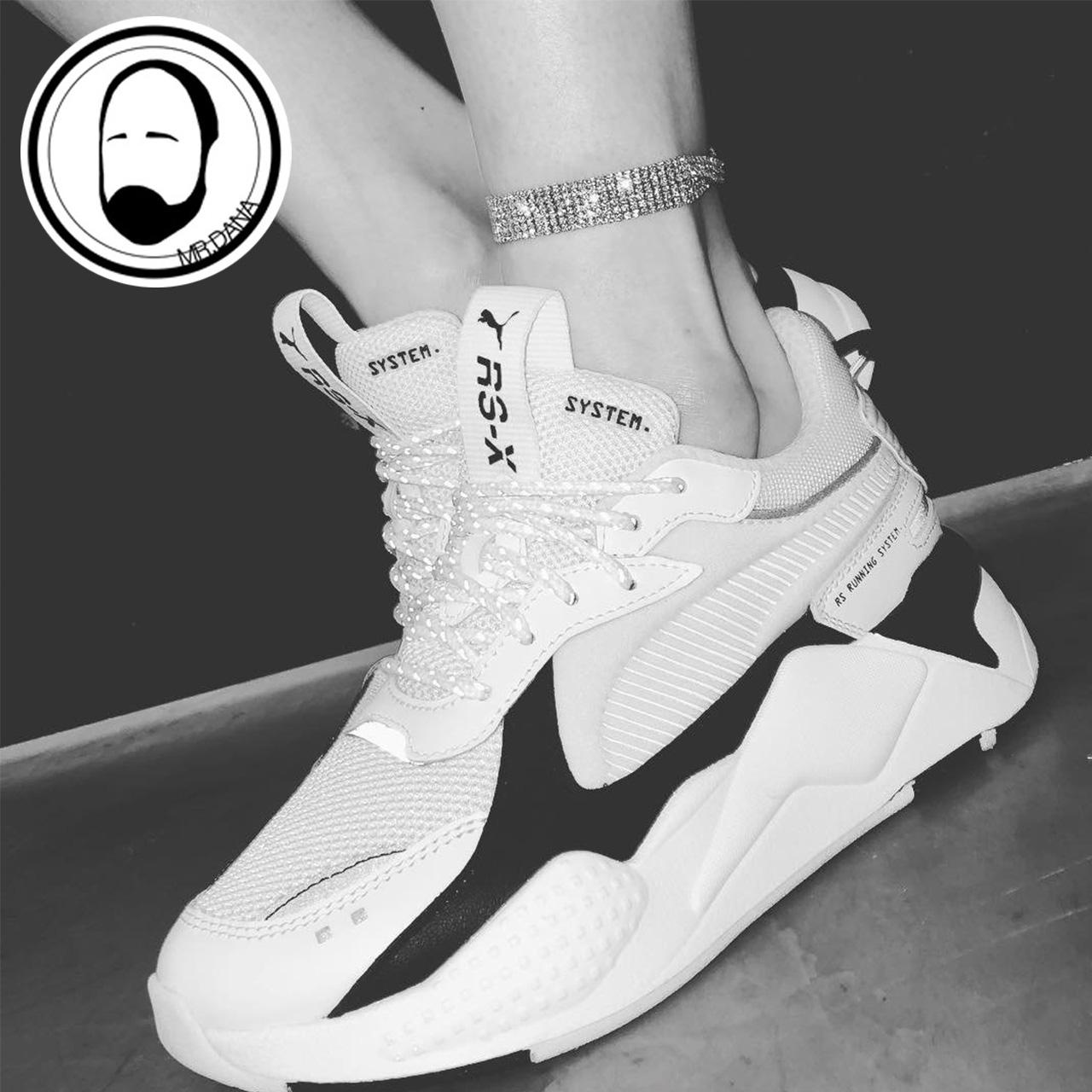 大拿 Puma 彪马 RSX CORE 泫雅同款解构黑白复古老爹鞋 369666-01