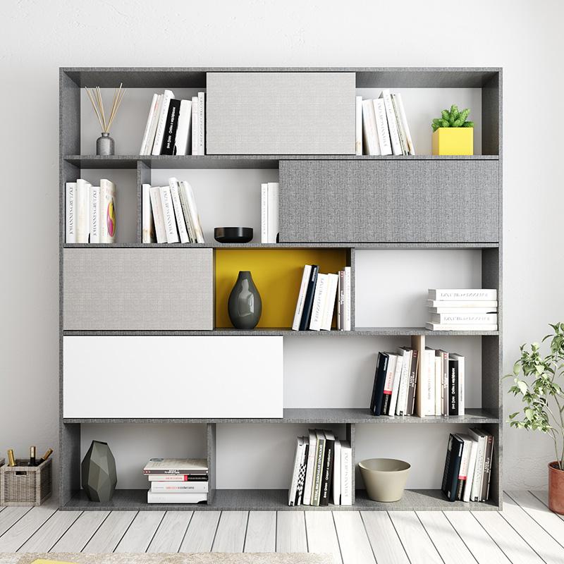 北欧格调酒柜书柜间厅柜储物墙储物柜带客厅书柜简约现代置物柜