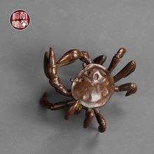 Cast iron crab cover plaything tea fun penholder tea table decoration table top tea accessories tea pets