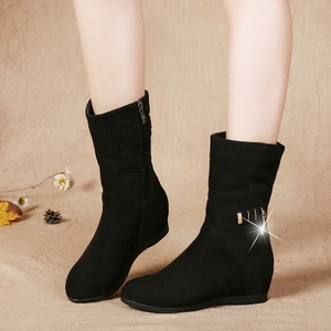 Old Beijing shoes women's autumn and winter boots, snow boots, wedges, high tube boots, fashion boots, cotton shoes