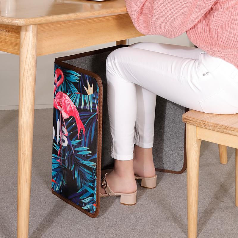 今品冬季取暖器办公室桌下小型家用静音省电碳晶宿舍暖脚取暖神器
