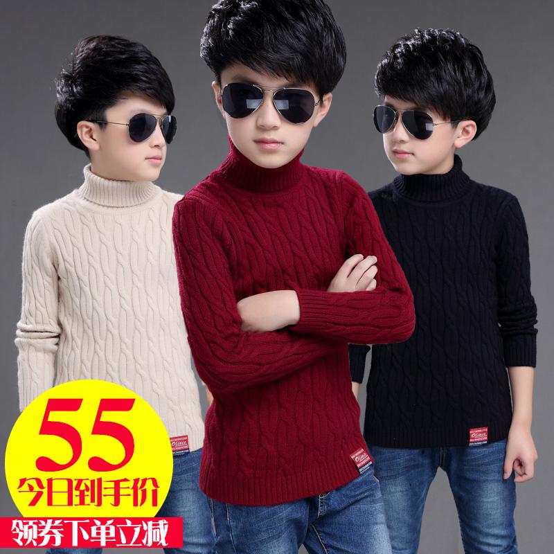 点击查看商品:男童秋装2018新款 高领毛衣中大童加绒加厚冬男孩12-15岁儿童白色