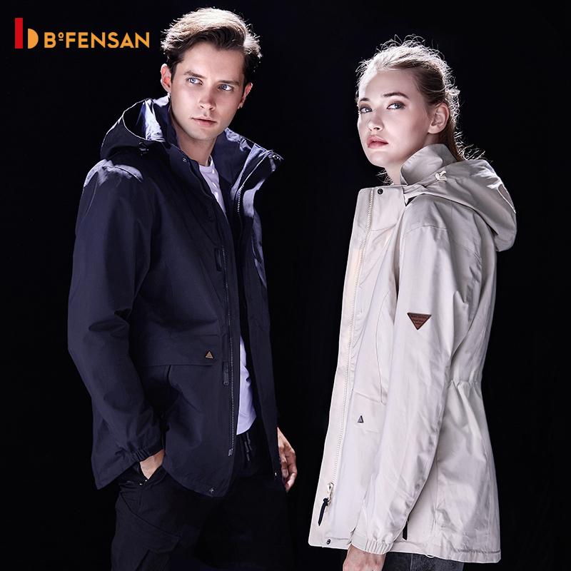德国波梵森户外冲锋衣中长款三合一两件套防水秋冬男女登山服潮牌