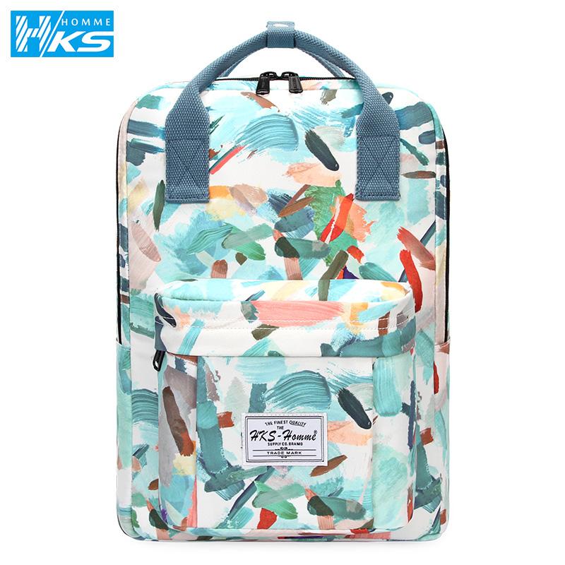 2019新款双肩包女韩版电脑包潮流背包休闲大容量旅行包中学生书包