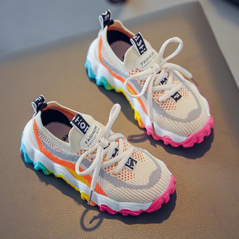女童鞋子2020新款夏款运动鞋儿童单网鞋夏季透气网面老爹鞋中大童