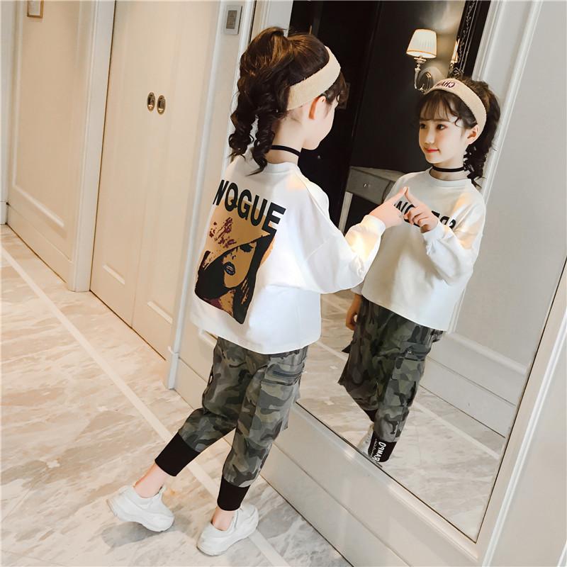 女童套装春秋2019新款潮儿童春装男童中大童时髦卫衣两件套超洋气