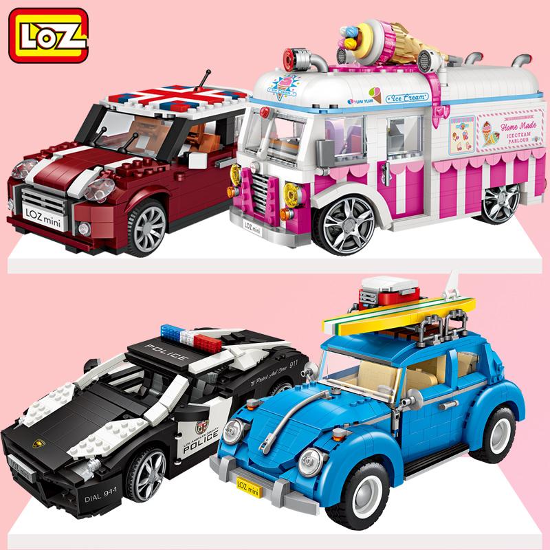 俐智/loz小颗粒积木 mini拼装拼插益智玩具汽车模型男孩女孩10岁