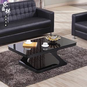 Glass tea table tempered glass modern stainless steel creative coffee table tea table office furniture tea table