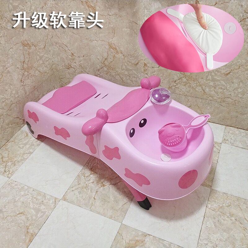 抖音款儿童洗头躺椅加大可折叠宝宝洗头椅小孩洗头床婴儿洗发靠枕