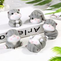 猫咪桌面书桌小摆件情侣治愈系毕业生日礼物男少女创意可爱小饰品