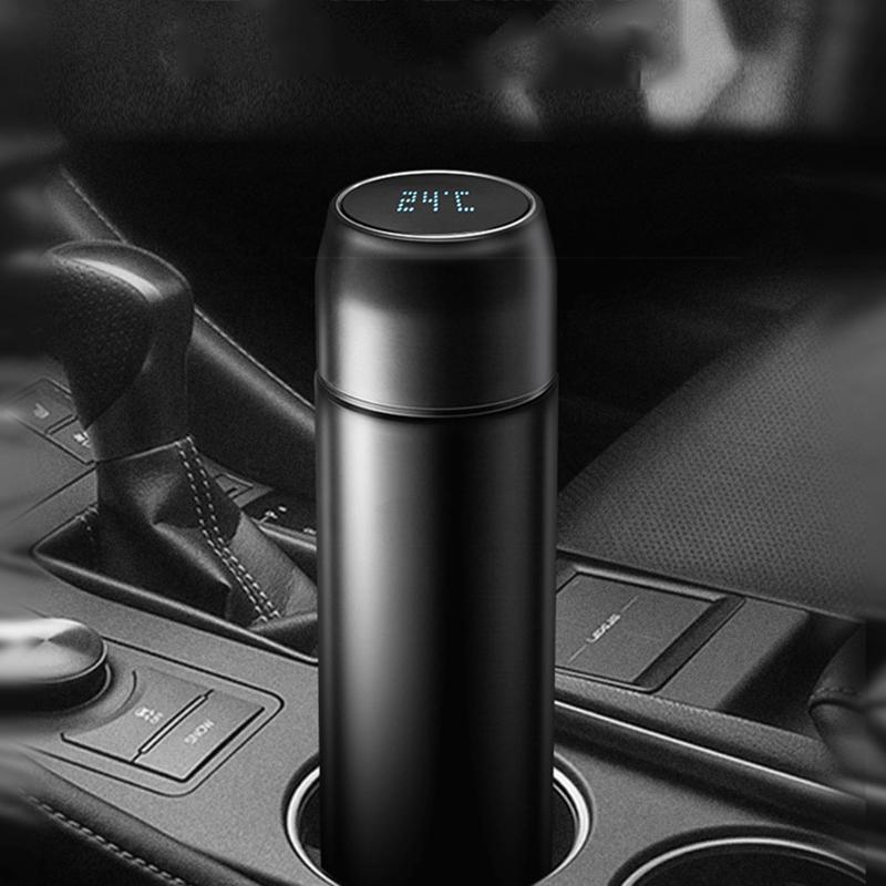 富光智能保温杯男便携带显示感应温度55度控温杯车载水杯商务定制