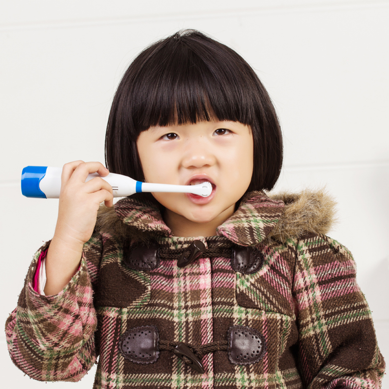 儿童牙刷电动牙刷 旋转式儿童卡通牙刷 自动牙刷 软毛 去渍防蛀牙