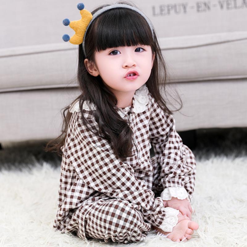 女童睡衣春秋纯棉长袖公主宝宝睡衣中小童睡衣可爱韩版儿童睡衣女