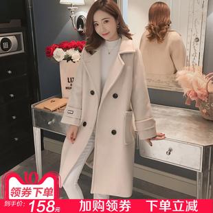 毛呢外套女中长款韩版2018新款秋冬装学生呢子大衣女赫本风流行季
