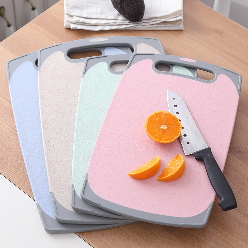 Wheat kitchen chopping board classification chopping board baby auxiliary food chopping board fruit chopping board plastic household knife board gluing board
