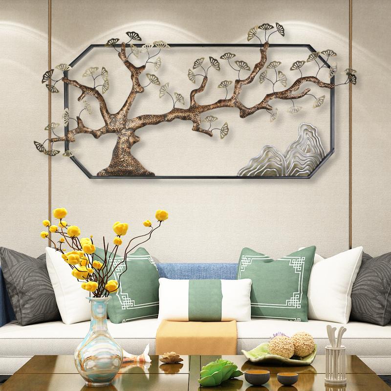 新中式玄关壁挂墙上装饰墙面墙饰卧室客厅创意沙发背景墙铁艺壁饰