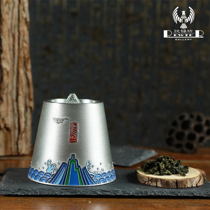 马来西亚工艺纯锡茶叶罐锡罐金属密封储茶罐锡制防潮茶叶罐可定制