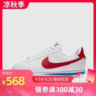 NIKE耐克女鞋白红阿甘经典运动鞋跑步鞋小白鞋904764-103图片