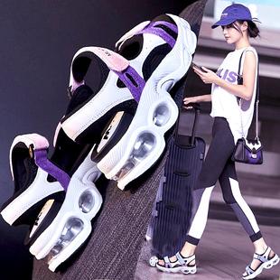 运动凉鞋女夏季2020新款百搭学生轻便平底鞋厚底松糕网红女士软底图片