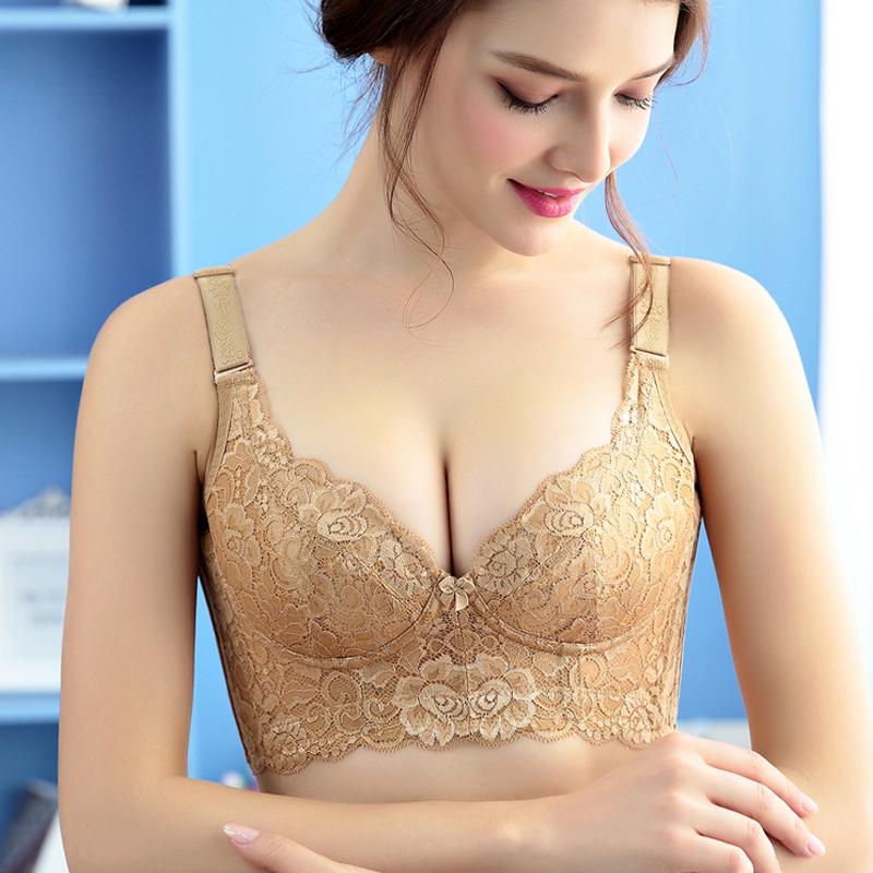 美容院无钢圈无海棉文胸薄款聚拢文胸收副乳胸罩大罩杯调整型内衣