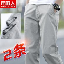 Antarctica 2019 new men's Plush pants loose straight tube winter casual pants men's trousers