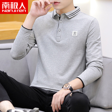 South Pole autumn long sleeve cotton t-shirt men's slim all over polo shirt 2019 new men's top