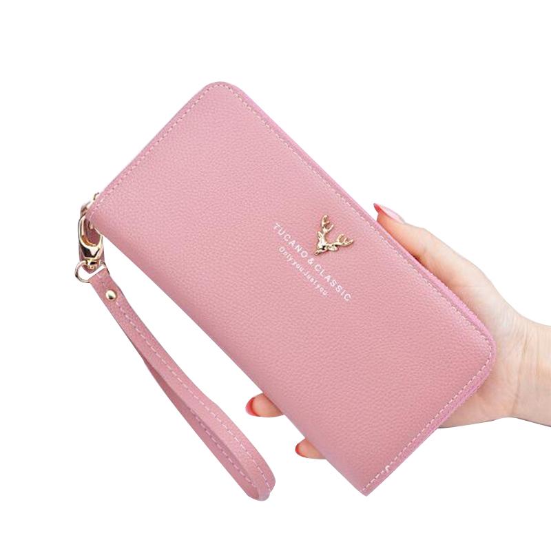 钱包女长款钱夹手机包日韩版时尚手拿包女零钱包卡包简约女手包满25元减5元