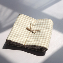 (小)布匠日式系ins棉麻桌布格子cn12桌茶几rt室学生宿舍书桌