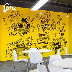 Creative graffiti culture art office wall stickers meeting room corporate inspirational stickers classroom dormitory decoration stickers
