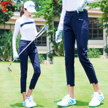 Golf Apparel Autumn Sunscreen Women's Fast-drying Long-sleeved Ball Clothes T-shirt, Nine-minute Trousers and Eight-minute Trousers Suit